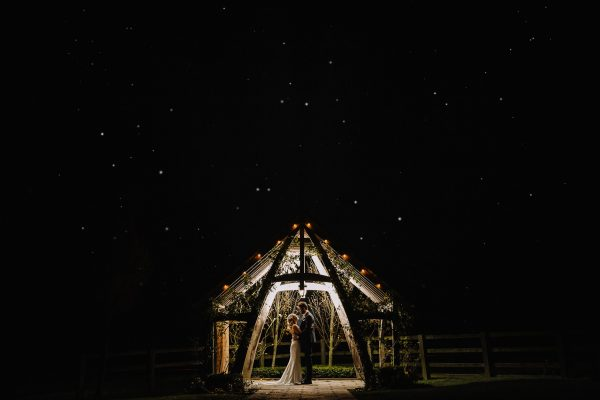starry night at Hyde barn